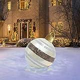 Weihnachtsdekorationen Weihnachten Aufblasbar Ball mit Aufblasbarem Schlauch Weihnachtskugel aus PVC Aufblasbarer Ball 23,6 Zoll Weihnachtskugeln Gartendeko Außendekorationen (A1)