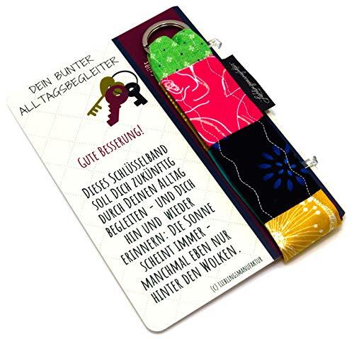 Lieblingsmanufaktur gute Besserung Geschenke | Alles Gute! | Schlüsselanhänger mit Botschaft zur Genesung Karte | liebevolle Genesungsgeschenke | einzigartiges Geschenk Alltagsbegleiter