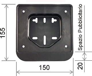 KaariFirefly Support de plaque dimmatriculation pour moto Noir