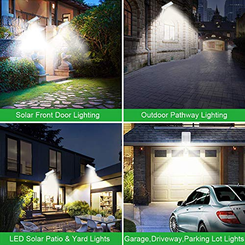 Solar Lights Outdoor with Remote Adjustable Pole 56Led,Waterproof, Motion Sensor Multi-Mode Solar Security Light for Fence,Road,Yard,Porch,Corridor,Garden ,Grage(56LED-WHITE-2PACK)