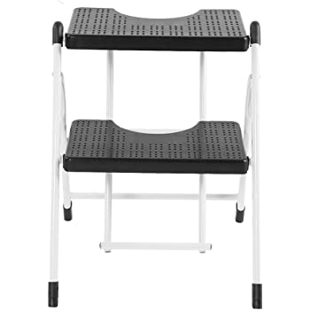 lyrlody Escalera Plegable 2 peldaños, Mini Taburete, Escalerilla Antideslizantes Metal, hasta 120 kg: Amazon.es: Hogar