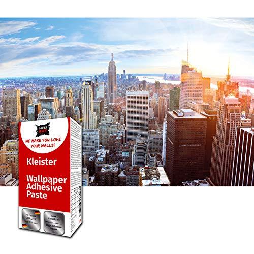 GREAT ART Foto Mural New York Skyline al Atardecer Ciudad USA America Poster NYC 210 x 140 cm - Papel Pintado 5 Piezas incluye Pasta para pegar