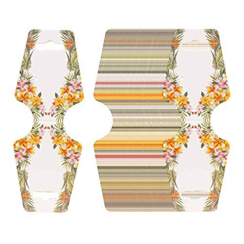 SDENSHI Pendientes de Tarjeta Plegable de Collar 100x Mostrar Etiqueta de Paquete Preperforada - G, tal como se describe