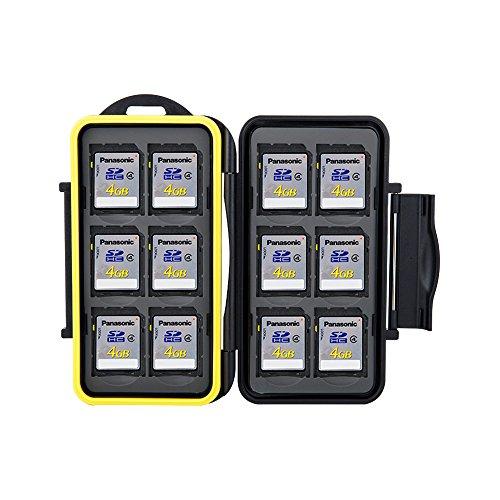 Speicherkarten Tasche Feste Schutzhülle für Speicherkarte MC-SD12 SDKarten Tasche von JJC