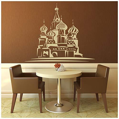 azutura St. Basil Kathedrale Moskau, Russland Rest der Welt Wandtattos Heim Kunstabziehbild verfügbar in 5 Größen und 25 Farben Mittel EIS Blau