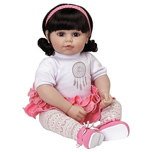 "Adora Toddler Free Spirit 20"" Girl Weighted Doll Gift Set for Children 6 Huggable Vinyl Cuddly Snuggle Soft Body Toy"