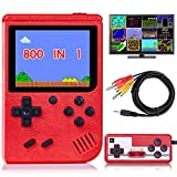 "DELAM Handheld Game Console for Kids Adults, Retro Game Player w/ 800 Classic FC Games 3.0"" Color Screen 1020mAh Rechargeable Battery, Support TV Connection & Two Player, Gift Toys for Boys Girls"