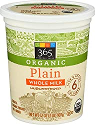 365 Everyday Value, Organic Whole Milk Yogurt, Plain, 32 oz