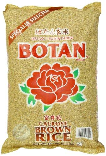 BOTAN Calrose Brown Rice 15Pound