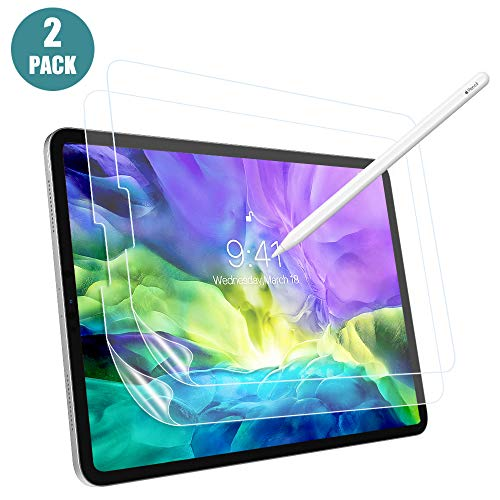 MoKo Like Paper Screen Protector Fit iPad Air 4th Generation/iPad Pro 11 2020 2nd Gen/2018, 2 Pack [Anti-scratch] [Anti-Glare] Same Like Writing on Paper PET Film for iPad 10.9 inch 2020 - Clear