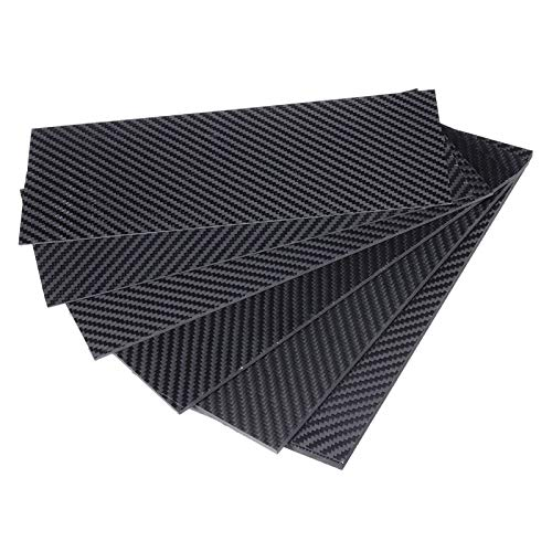 ARONG High Strength Carbon-Faser-Board 100x250mm Carbon Fiber Board Matt Twill Carbon-Faserplatte, Carbon-Faserplatte ist geeignet for die Automotive Material Drohne (Size : 2mm)