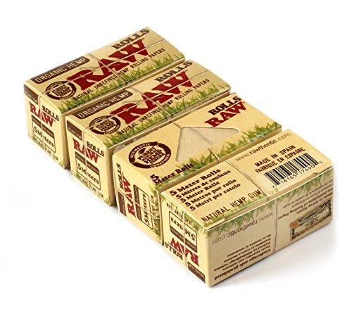 RAW 18397 Organic Hemp 4 Rolls a 5m, Papier