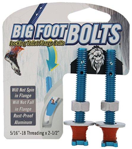 Big Foot Toilet Bolts - No Spin Toilet Flange Bolts - 5/16
