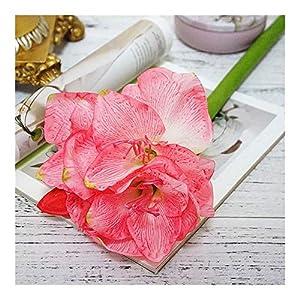 Office Artificial Amaryllis Flower Branch Fleurs Artificielles for Home Table Wedding Decoration Fake Silk Flowers Hippeastrum Flores Leisure (Color : Pink)