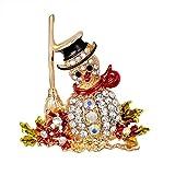 KXBY Broche Hermosa Moda Año Nuevo Navidad Botas Broche Zapatos De Santa Claus Carruaje Broche De Diamantes De Imitación Joyas, como Se Muestra