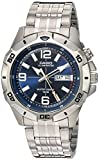 Casio Men's Sports Quartz Watch with Stainless-Steel Strap, Silver, 22 (Model: MTD1082D-2AVCF)