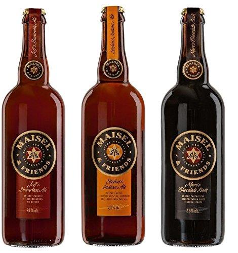 Maisel & Friends Tasting Paket (3 x 0,75 Ltr.) - Jeff´s Bavarian Ale + Stefan´s Indian Ale + Marc´s Chocolate Bock - Craft Bier Paket