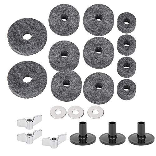 Prevenga las tuercas de tambor de colisión, kit de almohadilla de fieltro de tambor duradero de 21 piezas, para tambor doméstico