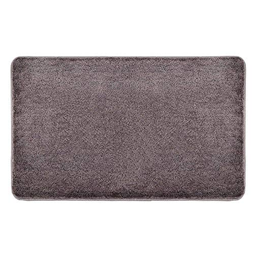 Indoor Doormat Front Door Mat Non Slip Rubber Backing Absorbent Mud and Snow Magic Inside Dirts Trapper Mats Entrance Rug Machine Washable (20'x31.5', Coffee)