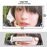 広瀬 すず マウスパッド 光学マウス対応 パソコン 周辺機器 超大型 防水 洗える 滑り止め 高級感 耐久性が良い 40*75cm