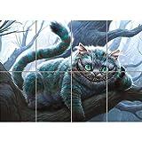 CHESHIRE CAT ALICE IN WONDERLAND GIANT POSTER PLAKAT DRUCK