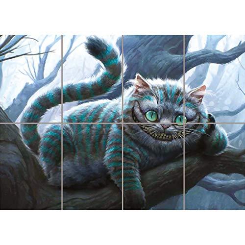 Doppelganger33 LTD Cheshire Cat Alice In Wonderland Wand Kunst Multi Panel Poster drucken 47x33 Zoll