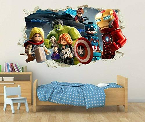 Pegatinas de pared Revenge agujero de pared Etiqueta de la pared decoración dormitorio pegatina vinilo 3D