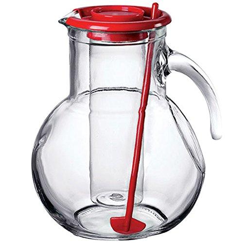 Bormioli Brocca Caraffa Decanter per Vino Acqua Bevande Modello Kufra con Portaghiaccio capienza 2 litro