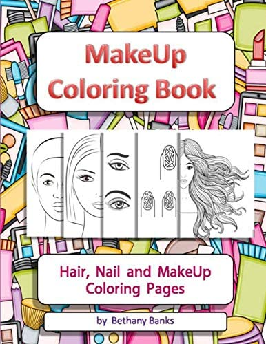 MakeUp Coloring Book Hair Nail and MakeUp Coloring Pages product image