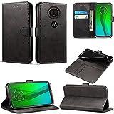 Motorola Moto G7 Power Case, Leather Wallet with Flip