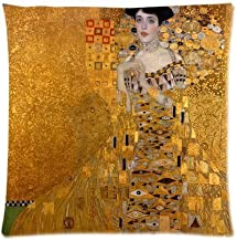 Custom The Lady in Gold The Extraordinary Tale of Gustav Klimt's Masterpiece Portrait of Adele Bloch-Bauer Throw Square 18 * 18 Inches Pillow Case Dakimakura Decorative Personalized Pillowcase Slips