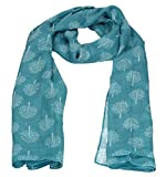 Mulberry Tree Celebrity Designer Scarf Womens Scarf Shawl Wrap Ladies Long Scarf - SWANKYSWANS (Teal)