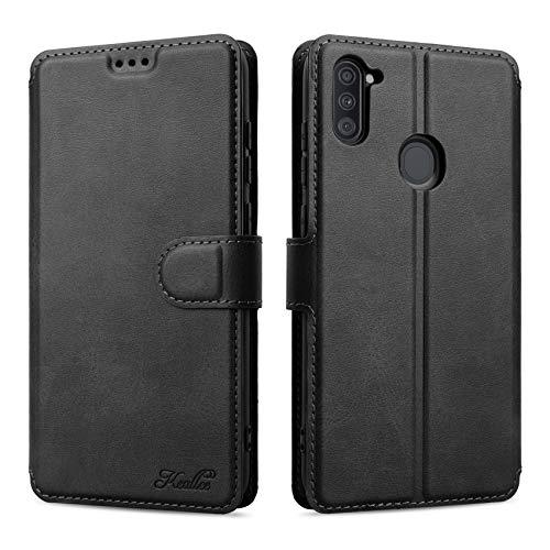 Keallce für Samsung Galaxy A11/M11 Hülle, Handy Lederhülle PU Leder Hülle Brieftasche Handytasche Cover Kompatibel für Samsung Galaxy A11/M11 Ledertasche-6.4