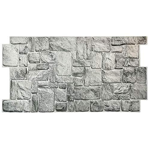 Pannelli parete PVC Finta pietra Effetto 3D - GREYSTONE