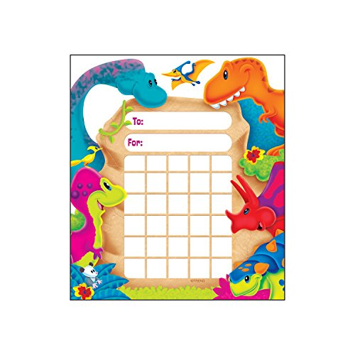 Trend Enterprises Dino-Mite Pals Incentive Pad (36 Piece), 5-1/4