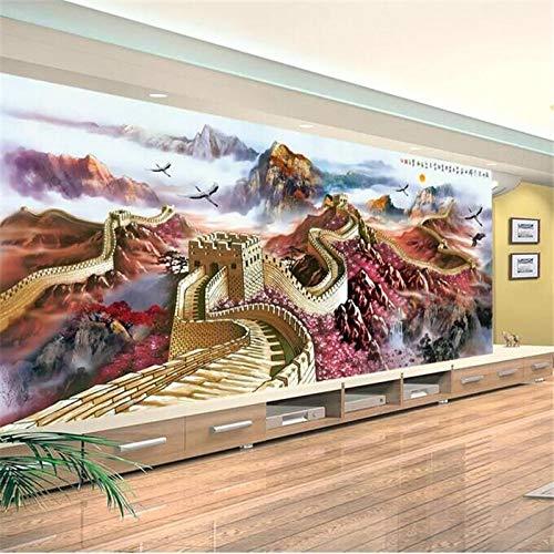 4D Tapeten Wandbilder,Kreative Schönen Berg China Great Wall Landschaft Hd Kunstdruck Größe Fototapete Poster Für Haus Wohnzimmer Schlafzimmer Bibliothek Wand Dekor, 80 × 120 In 200 Cm (H) X 30