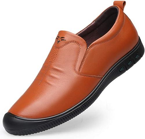 zapatos De Cuero De Los hombres Transpirables Transpirables zapatos Formales Juveniles Antideslizantes.