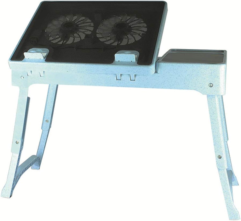 Table d'ordinateur portable réglable Table pliante simple angle de pliage grand ventilateur table de pliage table de pliage (noir)