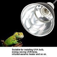 爬虫類ライトホルダー、爬虫類カメはUVA/UVB電球ランプライトホルダー、回転可能な360度、チキンブローダーバスキング用、爬虫類テラリウム用(US standard 110V, 12)