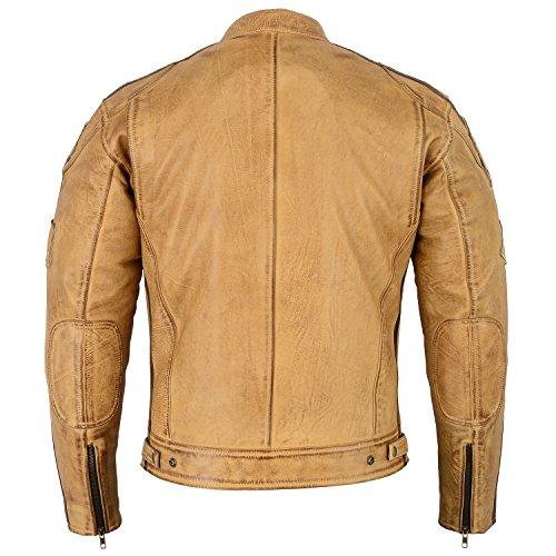 Herren – Motorradjacke aus Nappa Leder (L) - 4
