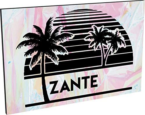 Hippowarehouse Zante printed Fridge Magnet Hardboard 50.8mm x 76.2mm