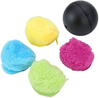 Viet's Hand Milo Activation Ball- Magic Ball for Dogs- Microfiber Dust Gone Automatic Rolling Ball Electric Dust Cleaner Mocoro Mini Sweeping Robot Household Use Rolling Cat Ball Toy