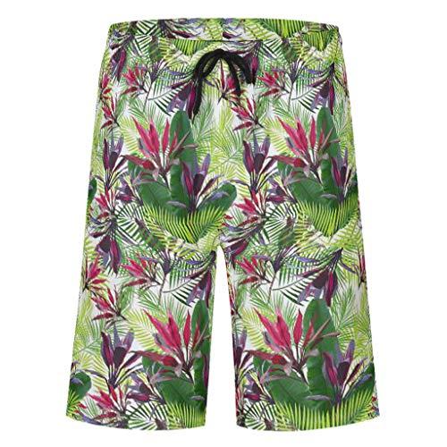 Bannihorse zwembroek lang heren vrije tijd broek zomer casual mode sneldrogend zwemshort zwempak zwemshorts met verstelbare trekkoord zakken zonder mesh voering