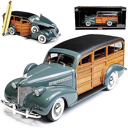 Sun Star Chevrolet Woody Station Wagon Grau 1939 1 18 Modell Auto