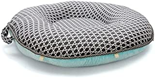 Pello Multi-use Luxe Baby-Toddler Floor Pillow/Play Mat/Lounger, Majestic/Aqua
