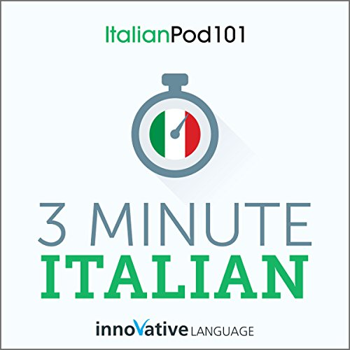 3-Minute Italian audiobook cover art