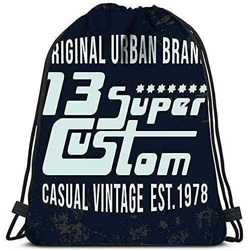 Dingjiakemao Gym Tassen Super Custom Vintage Stempel Badge Jeans Cas Waszak Gym Yoga Tas