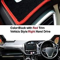 車のダッシュボードカバーダッシュマットトヨタノアヴォクシー2014 2015 2016 2017 2018 2019オートサンシェイドマットパッドカーペット右手ドライブ (Color : Red)