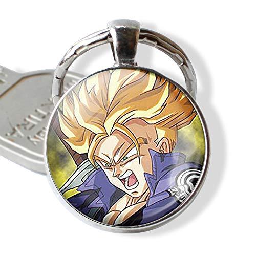 Bosi General Merchandise Dragon Ball, Colgante de Cristal, Llavero cabujón, Vegeta, Super Saiyan, Goku, Llavero Dragon Ball, Llavero