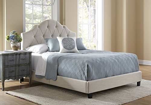 Pulaski Mason All-in-1 Fully Upholstery Tuft Saddle Bed, Queen
